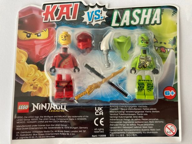 Lego NINJAGO figurki KAI vs LASHA- oryginalne