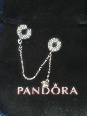 Pandora srebrny łańcuszek zabezpieczający
