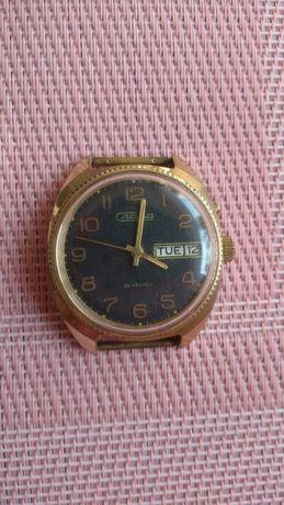 Zegarek Slawa kolekcionerski pozłacany Au mechaniczny