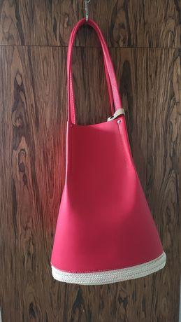 Piękna torba Solar torebka czerwona
