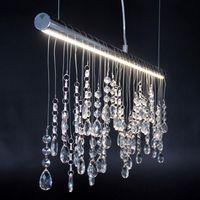 Elegancka kryształowa wisząca lampa nad stół IDA LED Leuchten Direkt