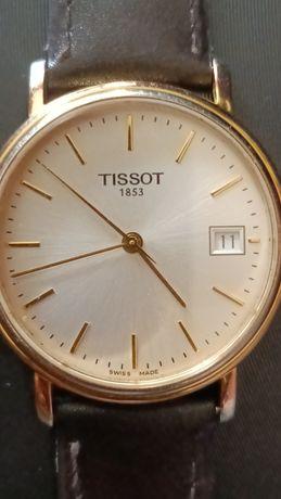 Tissot oryginalny elegancki zegarek garniturowiec szafirowe szkiełko