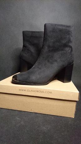 Buty Glamorous Botki Boot Black obcas R.39
