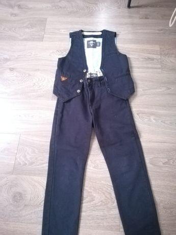 Spodnie+kamizelka, komplet H&M rozm. 140
