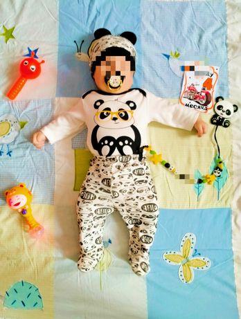 Костюм  панда  троечка