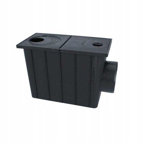 Osadnik rynnowy boczny 110 mm czarny