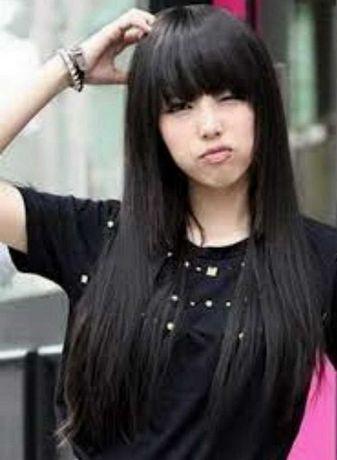 Парик длинный черный натральные волосы