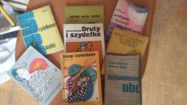książki, szydełkowanie, robienie na drutach, dziewiarstwo, krawiectwo