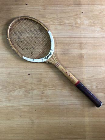 Raquete de ténis vintage Dunlop Maxply Fort em madeira - Rara