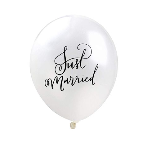 Balon just married na hel ślub wesele