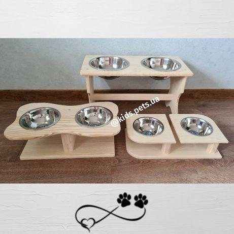 Миски на подставке для собак, котов, кроликов