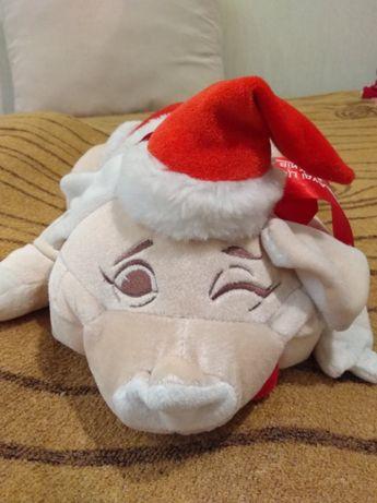 Мягкая игрушка Свинка новогодняя