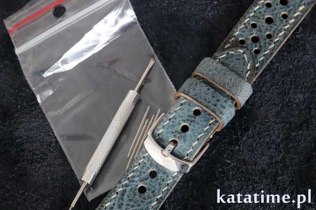 SUPER PASEK do zegarka  lub smartwatcha szyty ręcznie 20 lub 22 mm
