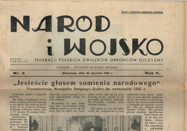 Naród i Wojsko. Tygodnik, nr 5 z 30 stycznia 1938 r.