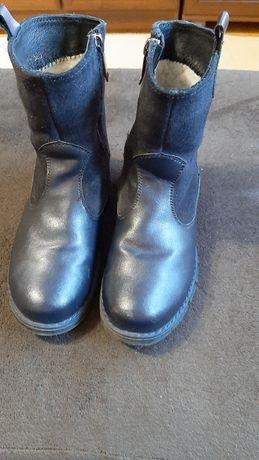 Зимние ботинки с натуральной кожи для девочки