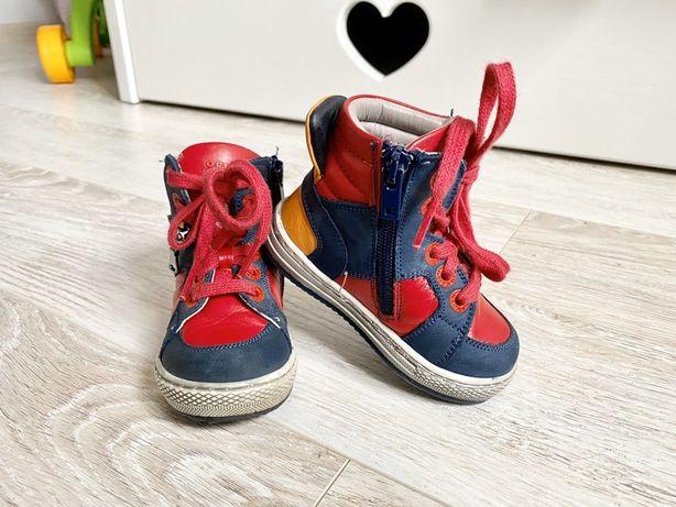 Ортопедические кожаные демисезонные ботинки, стелька 13.5 см