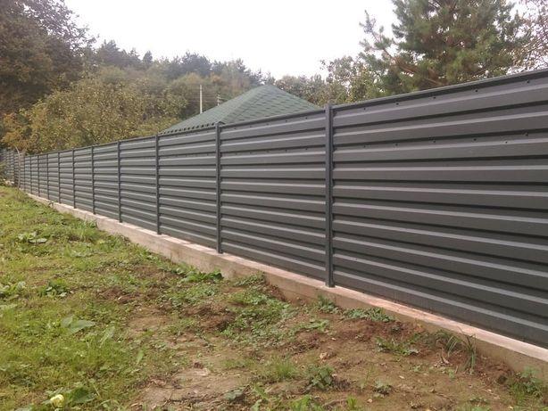 Фундаменты под забор установка заборов бетонные отмостки