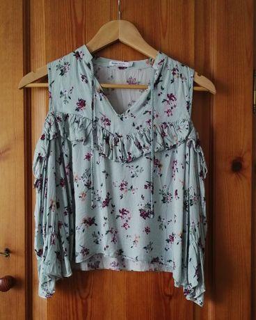 Camisa riscas e flores
