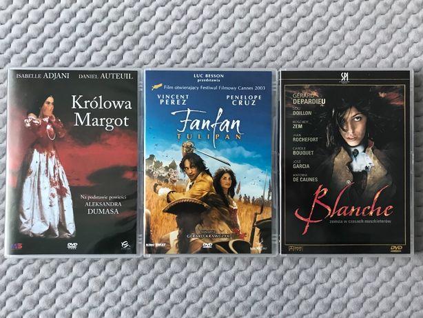 """Królowa Margot"", ""Fanfan Tulipan"", ""Blanche"" - 3 DVD (polski lektor)"