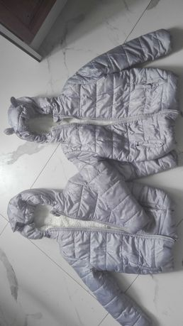 Dwie kurtki zimowe 128