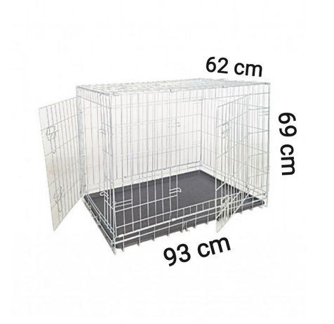 Klatka dla psa 93x62x69 kennel kojec owczarek labrador transporter