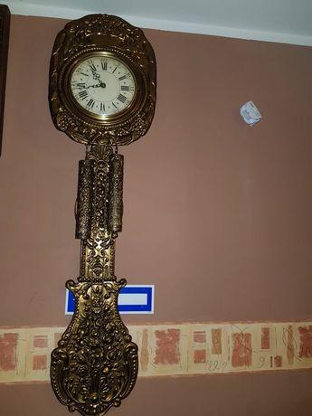 Bardzo Stary i Bardzo Duży Zegar z Mosiądzu w Super Stanie  XIX w