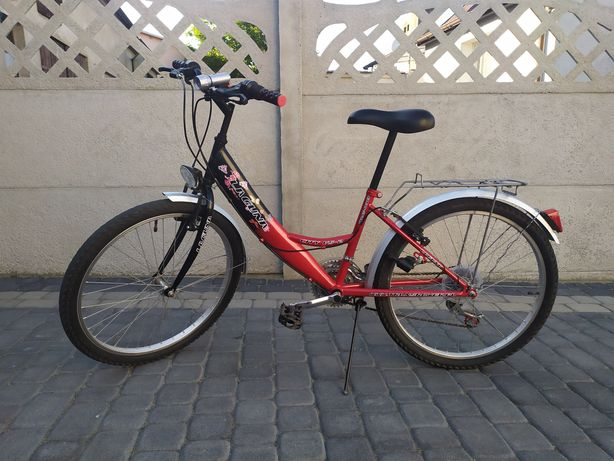 Rower Laguna 24 cale - shimano - błotniki - nóżka - bagażnik