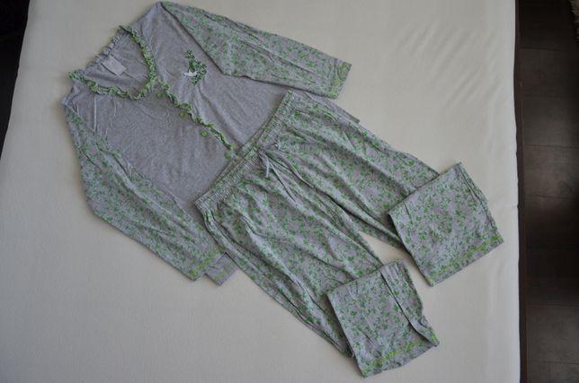 Piżama nocna damska koszula bluzka spodnie rozm L XL 44 46 48 jak nowa