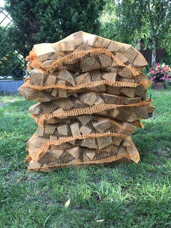 Drewno kominkowe , opałowe ,workowane do wędzenia , bukowe