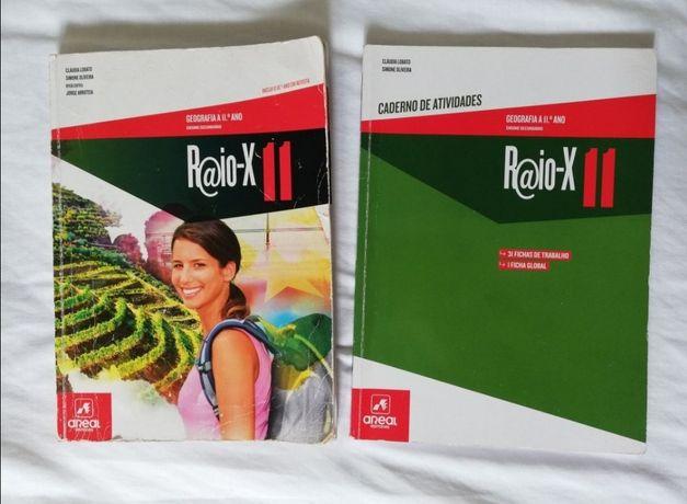 "Manual +Caderno de Atividades ""Raio-X 11"" de Geografia A de 11°ano"