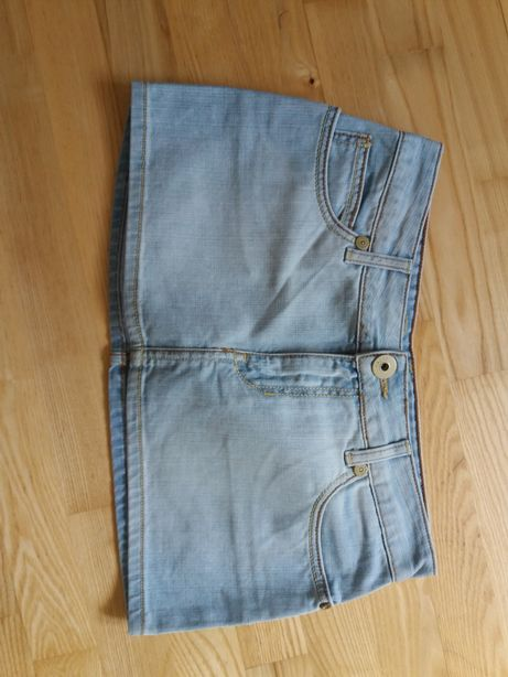 cudna mini jeansowa plazówka xs biodrowka cross jeans nowa