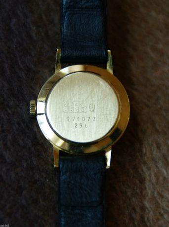Часы Швейцария, 1970 год, золото