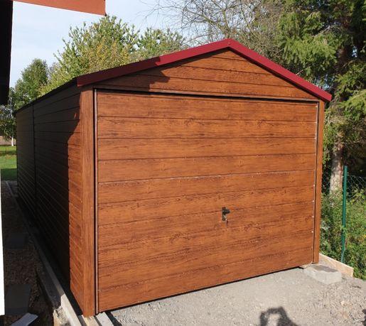 Nowość Garaż blaszany drewnopodobny imitacja drewna 3x5 6x5 6x6 MOCNY