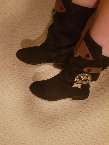 сапоги / ботиночки замша
