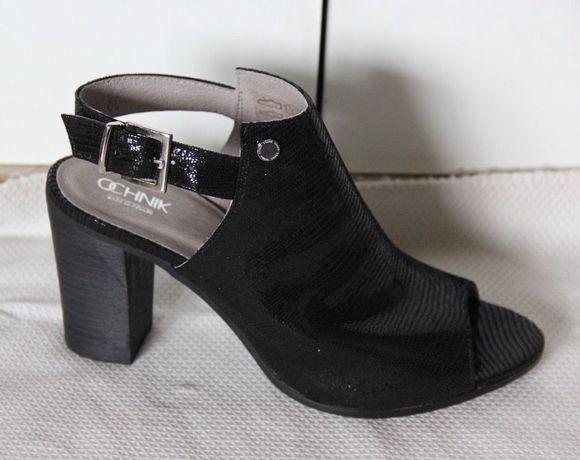 OCHNIK skórzane czarne sandałki buty skóra naturalna 39 czółenka