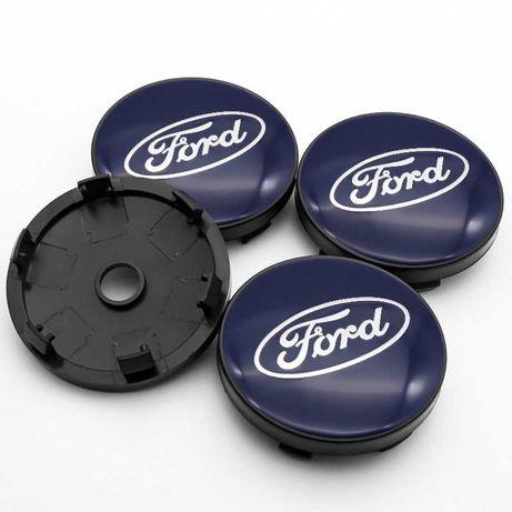 Centros/tampas de jante completos Ford com 54, 56, 60, 65 e 68 mm