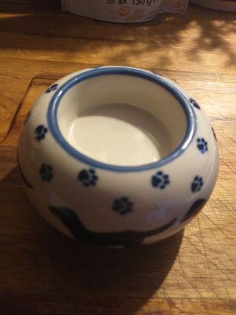 Ceramika Bolesławiec kaganek świecznik t light psy