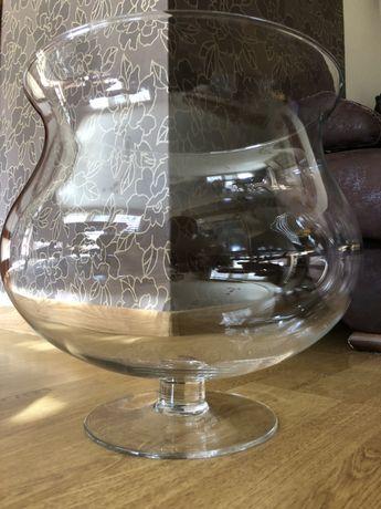 Kielich wazon szklany duży