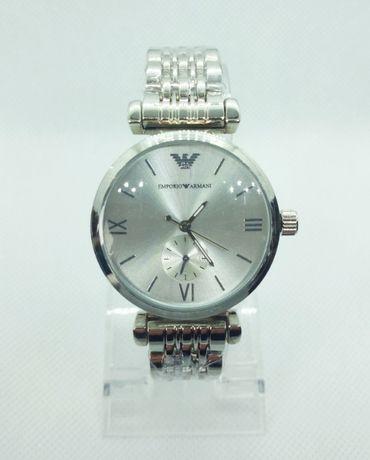 Zegarek damski Emporio Armani EA srebrny analogowy bransoleta nowy