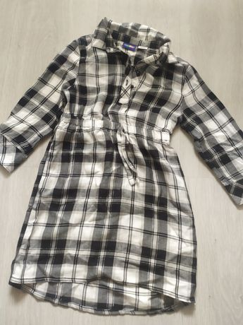 Tunika sukienka sukieneczka 86 92 kratka