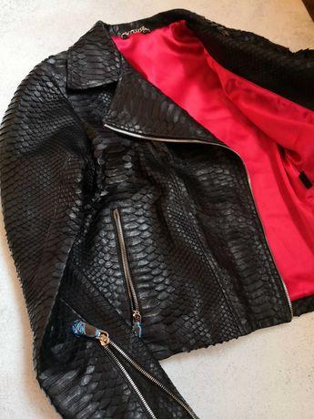 Lux качество. Крутая куртка, курточка, косуха из премиум кожи питона
