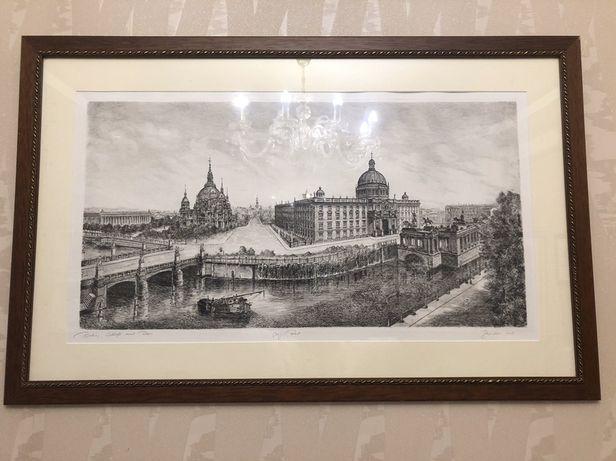 Картины гравюры в рамках Берлин