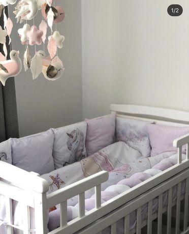 Бортики подушки, защита в кроватку, бортики зверюшки