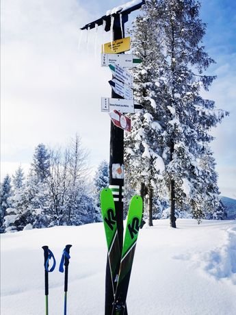 Narty skiturowe K2 174cm + foki + wiązania