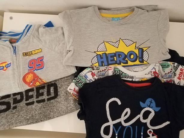Bluzy koszulki zestaw chłopięce McQueen 110