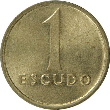 Moedas 1 escudo tamanho médio 1981 a 1986