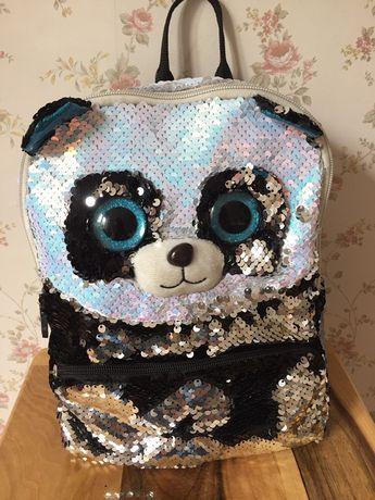 Рюкзак панда паетки