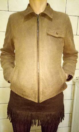 Куртка кожаная плотная мягкая кожа размер М женская