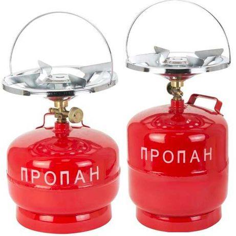 Баллон газовый 5, 8л. кемпинг с горелкой. 2903211, GS-0005, GS-0008