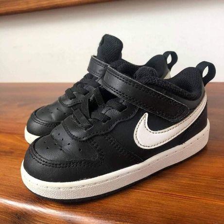 Buty nike court dziecięce czarne białe air force 25 14cm